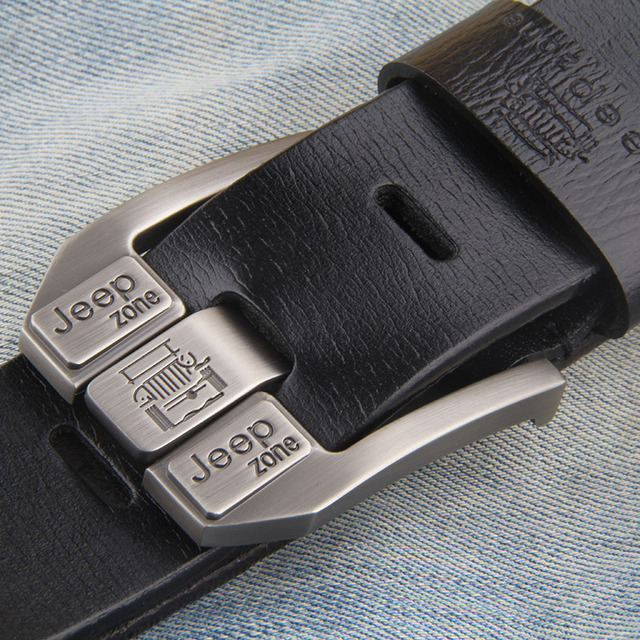 Luxury Vintage Genuine Leather Metal Pin Belt 2