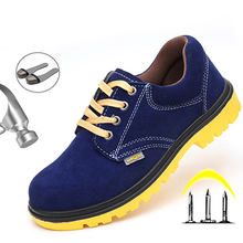 Men's Safety Shoes Male Steel Toe Work Shoes Man Anti-smashing Construction Safety Boots Work Sneakers Boot Indestructible Shoes