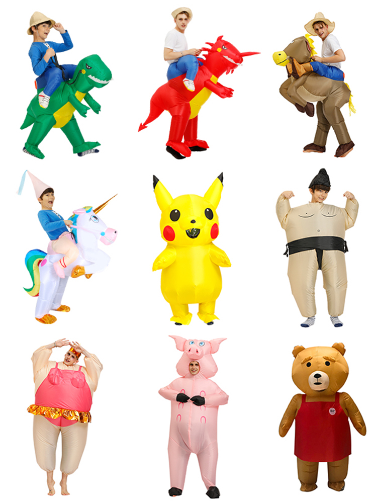 Suit Cosplay Costumes Dress Mascot Dinosaur Party Adult Kids Disfraz for High-Quality