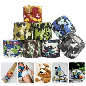 Self-adhesive Camouflage Bandage Flex Elastic Outdoor First Aid Sports Non-woven Ankle Bracers Protection Finger Camo guise Tape