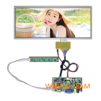 wisecoco 12.3 inch Stretched Bar LCD Panel 1920x720 high definition lcd advertising screen,Supermarket Shelf Screen high bright