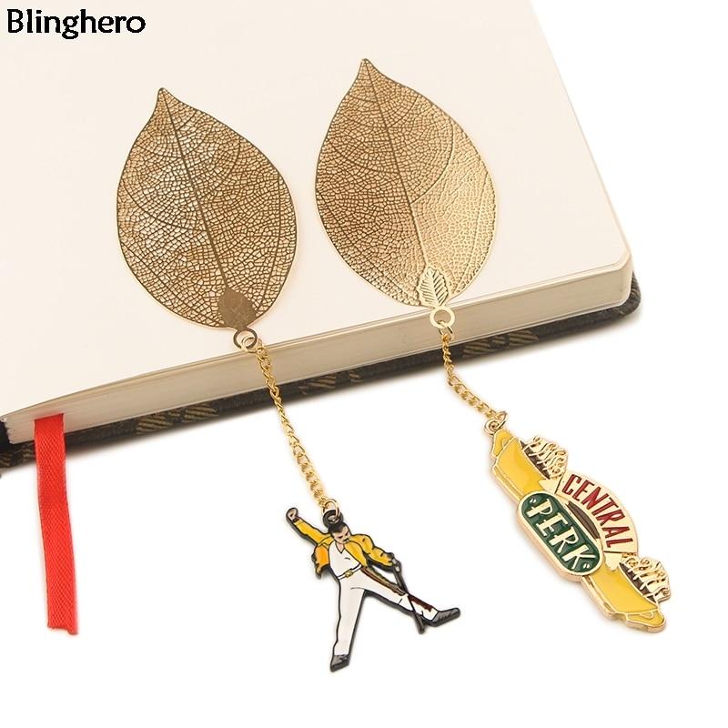 10pcs/set Blinghero Freddie Mercury Metal Bookmarks Friends TV Show Books Marker Of Book Gift Stationery School Supply BH0489