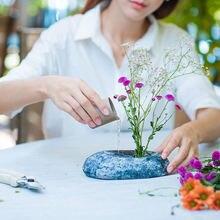 Каменный цветок держатель ваза для домашнего декора модные креативные