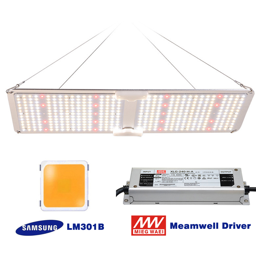 2000W Led Grow Light Samsung LM301B Dimmable Meanwell Driver  Full Spectrum 3000K 5000K Mix 660nm IR  For Indoor Plants Growth