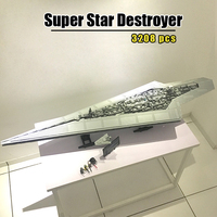 In Stock 05028 Star Plans 3208pcs Execytor Super Star Destroyer Model Building Blocks Bricks Compatible 10221 Classic Toys Gifts