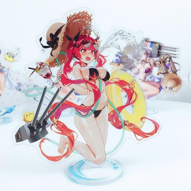 Azur Lane figur spielzeug Atago Akagi Kaga Soryu Cygnet Honolulu acryl bikini cosplay puppe 15cm für geschenk 3 stücke rabatt 25%