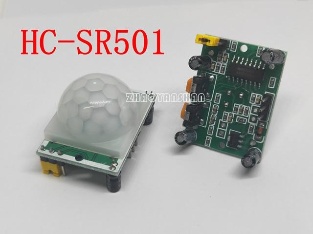 20pcs X HC SR501 HCSR501 גוף אדם אינפרא אדום חיישן מודול. אלקטרי. אינפרא אדום חיישן.