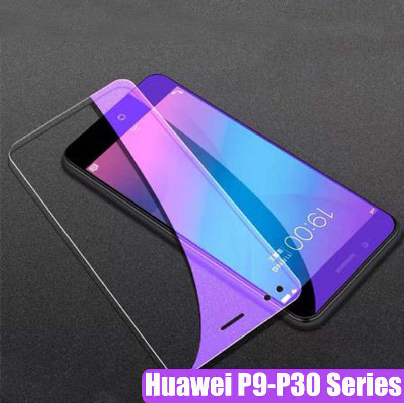 100% Tempered Glass Screen Protector For Huawei P9 P10 Lite Plus For Huawei P20 P30 Lite Pro Anti-blue ray Glass Film 2pcs/lot