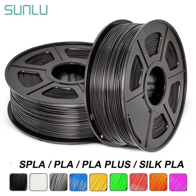 Filamento per stampante 3D SUNLU PLA Plus PLA 1.75mm arcobaleno 1KG con bobina di seta PLA filamento 3D materiale di stampa 3D