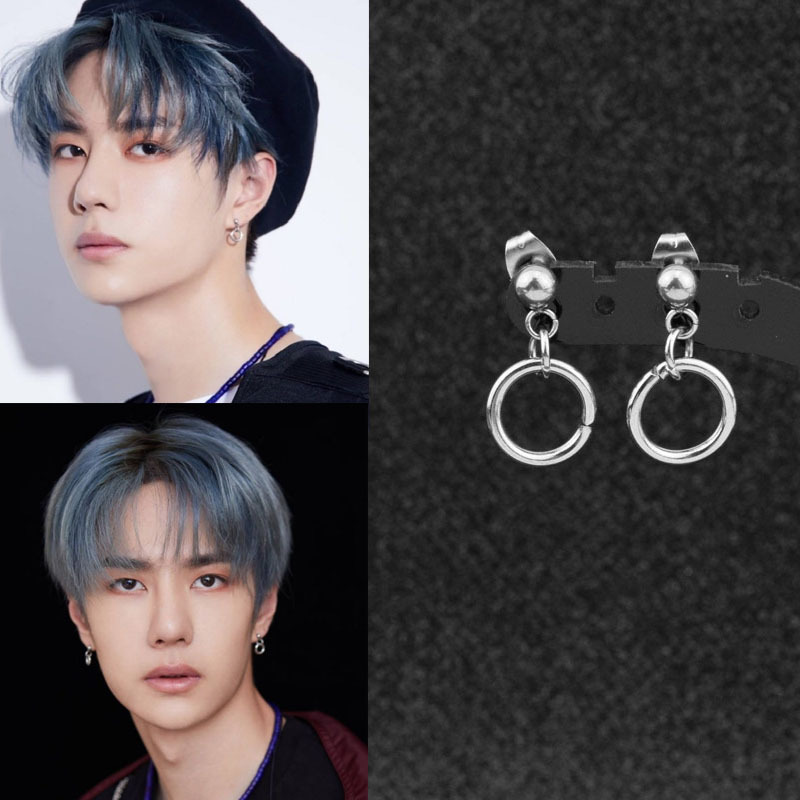 Kpop Idol Circle Ring Earrings