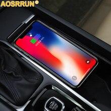 15w QI wireless-ladegerät lade platte drahtlose telefon ladegerät auto zubehör Für Volvo XC90 S90 V90 XC60 V60 C60 2018 2019 2020