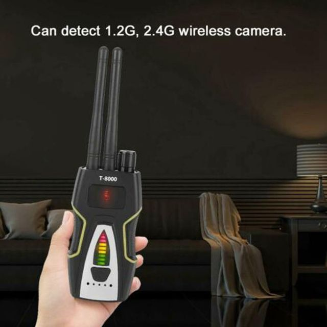 T8000 Anti- Spy Wireless RF Signal Detector Camera Detect GSM Audio Finder GPS Scan Detector Anti Candid Camera Signal Scanner 5