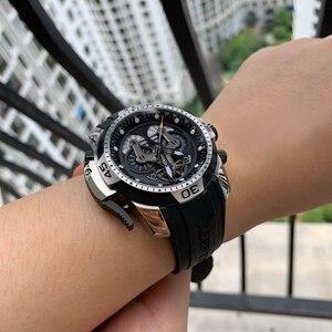 Image 2 - Riff Tiger/RT Designer Uhren für Männer Große Zifferblatt Komplizierte Uhr mit Perpetual Kalender Rubber Strap Uhr RGA3503