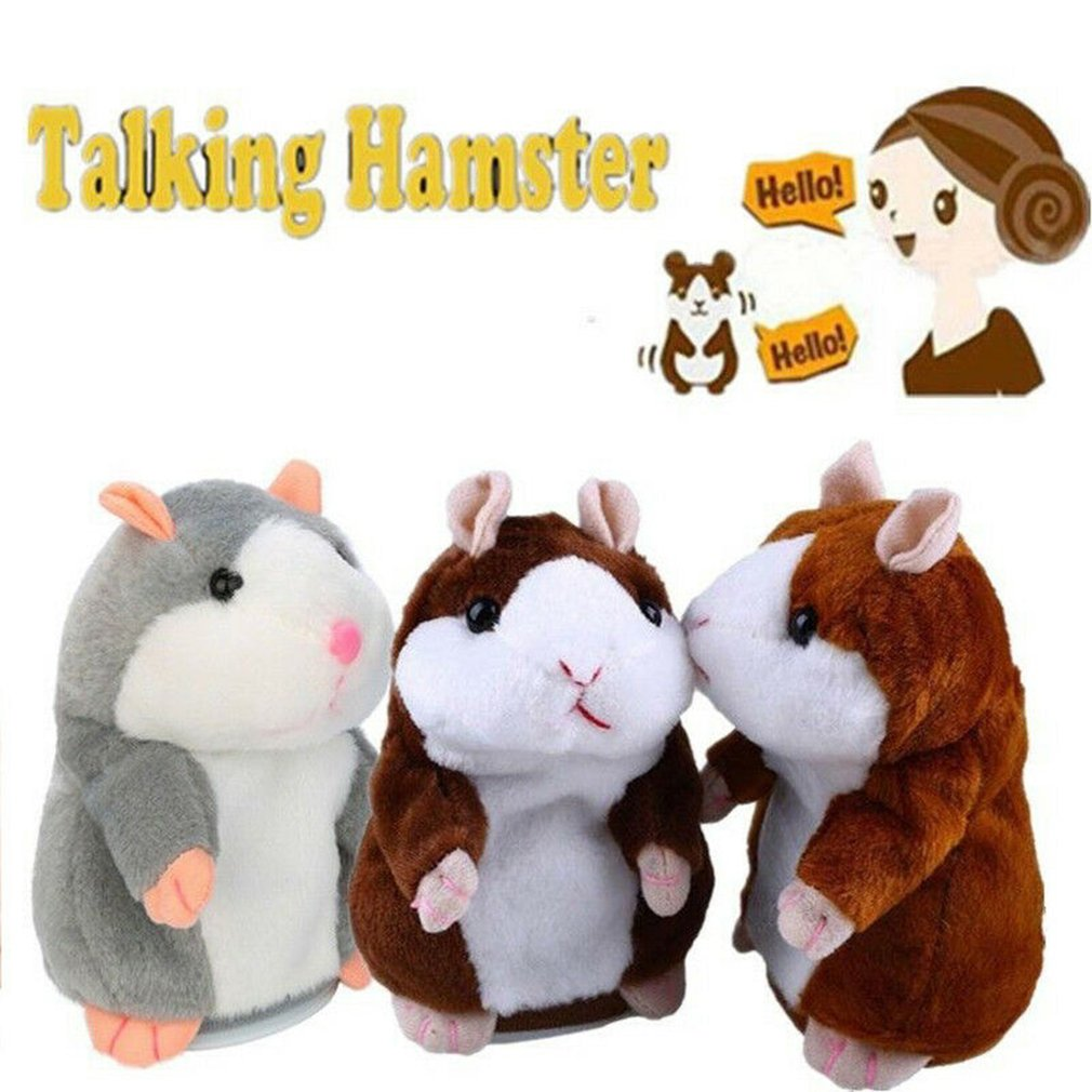 Cheeky Hamster Repeats What You Say Electronic Pet Talking Plush Toy Cute Gift Talking Hamster Repeats HamsterElectronic Toys