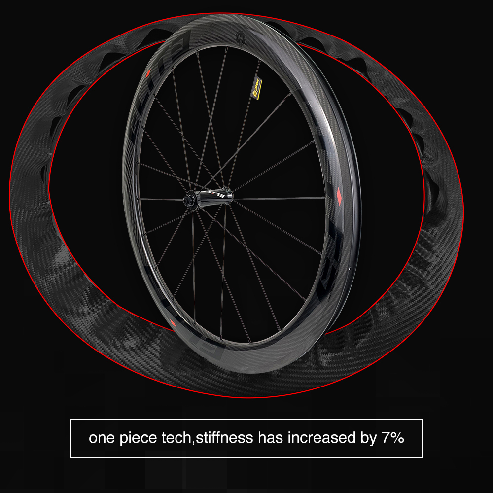 Image 3 - Elite 700c Road Bike Carbon Wheels 3k Twill UCI Quality Carbon Rim Tubeless Ready Sapim Secure Lock Nipple Road Cycling WheelsetBicycle Wheel   -