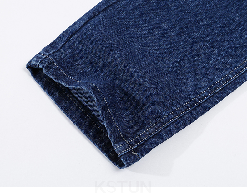 KSTUN New Arrivials Man jeans Brand 2019 Classic Jeans Men Thick Direct Straight Regular Fit Long Trousers Business Casual jean homme 18