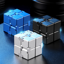 antistress Infinite Cube  Magic Cube metal Flip Cubic Puzzle Stress Reliever Autism   Finger Anxiety Stress Relief Adult toys