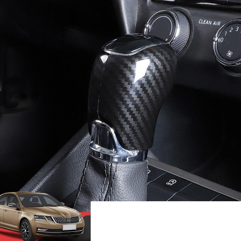 Lsrtw2017 крышка рычага переключения передач из углеродного волокна Abs для Skoda Octavia A7 Superb Fabia аксессуары для интерьера автомобильная ручка перекл...