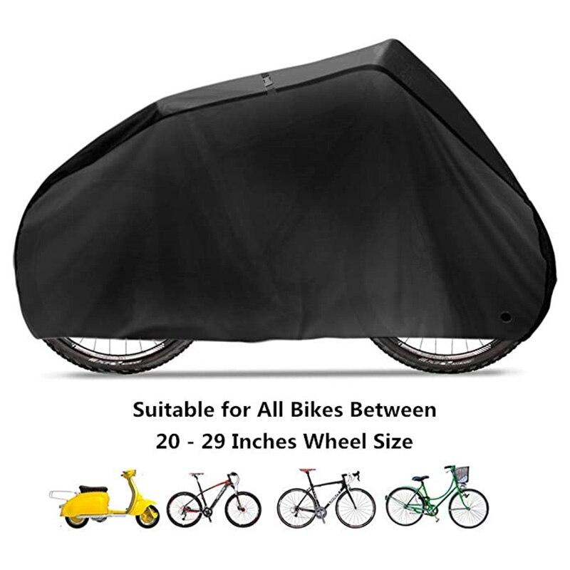 190T Nylon Fiets Cover Waterdichte Mtb Bike Beschermhoes Anti Dust Regen Uv-bescherming Met Lock-Gaten Opslag tas
