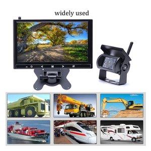 "Image 5 - Podofo 9 ""אינץ אלחוטי רכב צג TFT רכב גיבוי מצלמות צג עבור משאית חניה Rearview מערכת אחורי מצלמות מתח 12 24V"