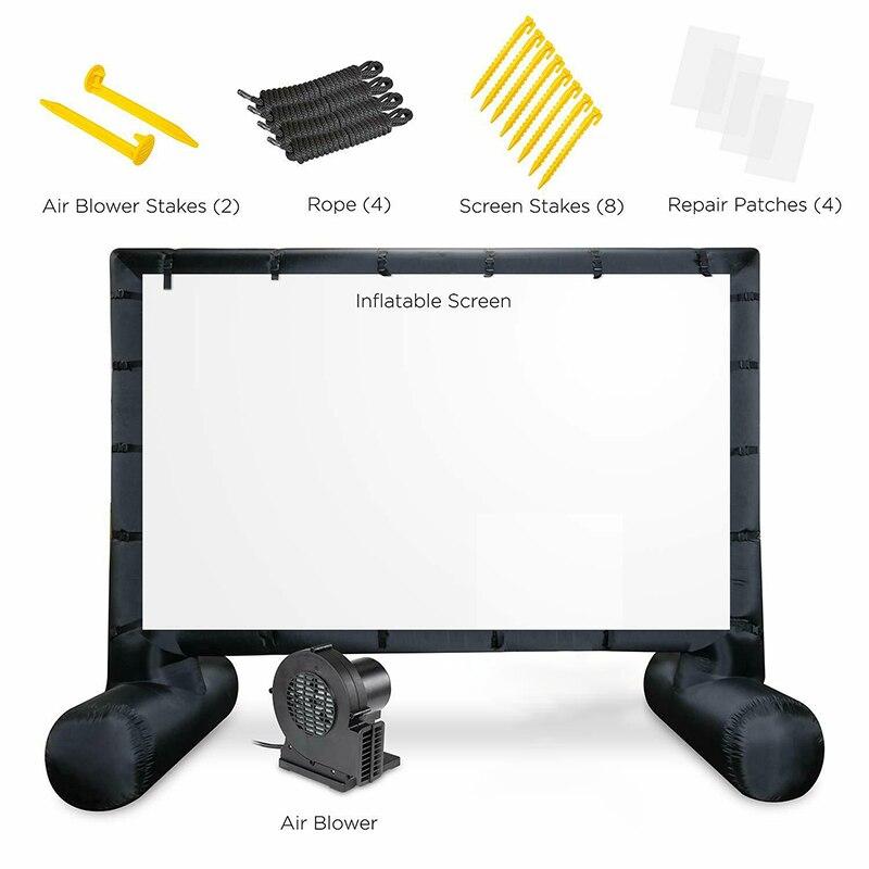 14,5 pies proyector inflable al aire libre pantalla de película inflable para películas Pantalla de proyector de cine con aire portátil soplador de aire