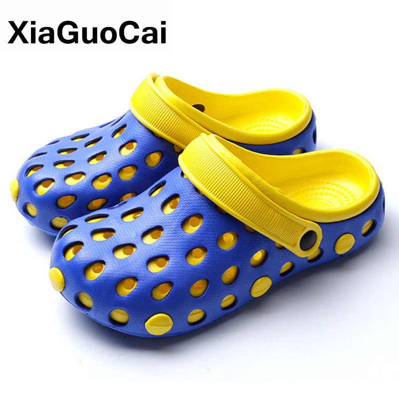 Men Home Slippers Summer Garden Shoes Quick Dry Bathroom Flip Flops Male Beach Sandals High Quality Clogs Man 2020 Cheap Mules