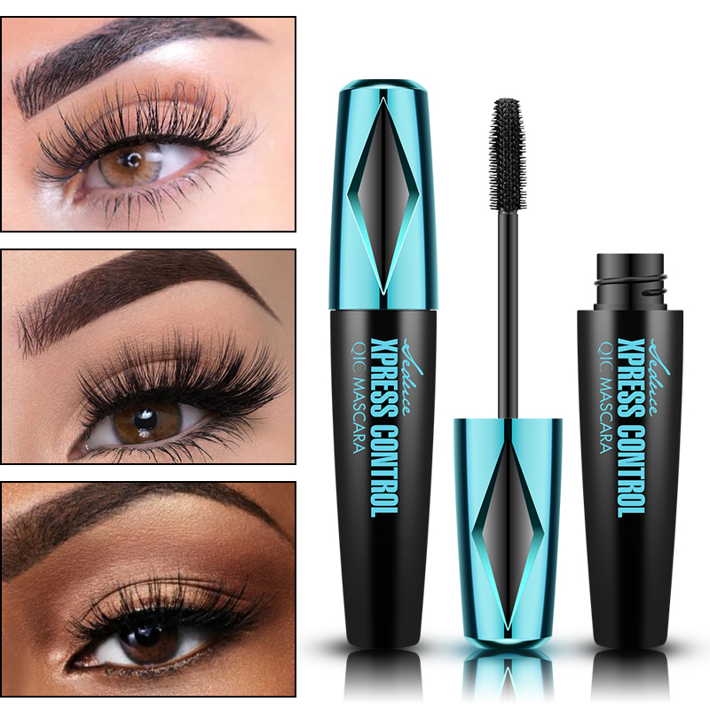 QIC 4D Silk Fiber Eyelash Mascara Waterproof Curling Eyelashes Thick Lengthening Lash Extension Mascara Cosmetics TSLM2