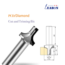 Diamond Trim Router Bit PCD Carving Bit Tool Cabinet Wood Cutter For Furniture Solid Wood Plywood