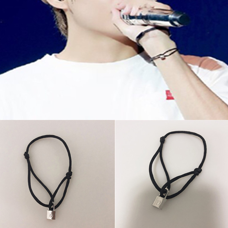 Kpop Bangtan Boys Bracelet The Same Style As V Exquisite Creative Lock Bracelet Fashion Korean Style