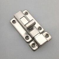 2/2.5/3/4 polegada de aço inoxidável porta trava barril parafuso trava ferrolho grampeador porta bloqueio segurança fácil instalar para banheiro