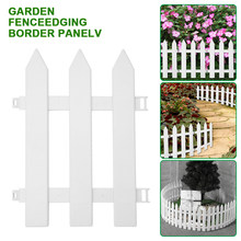Garden Fence Grass Edge Fence Picket Border Panel Plastic Wall Fence Board Garden Yard Decoration DIY Easy To Assemble(China)