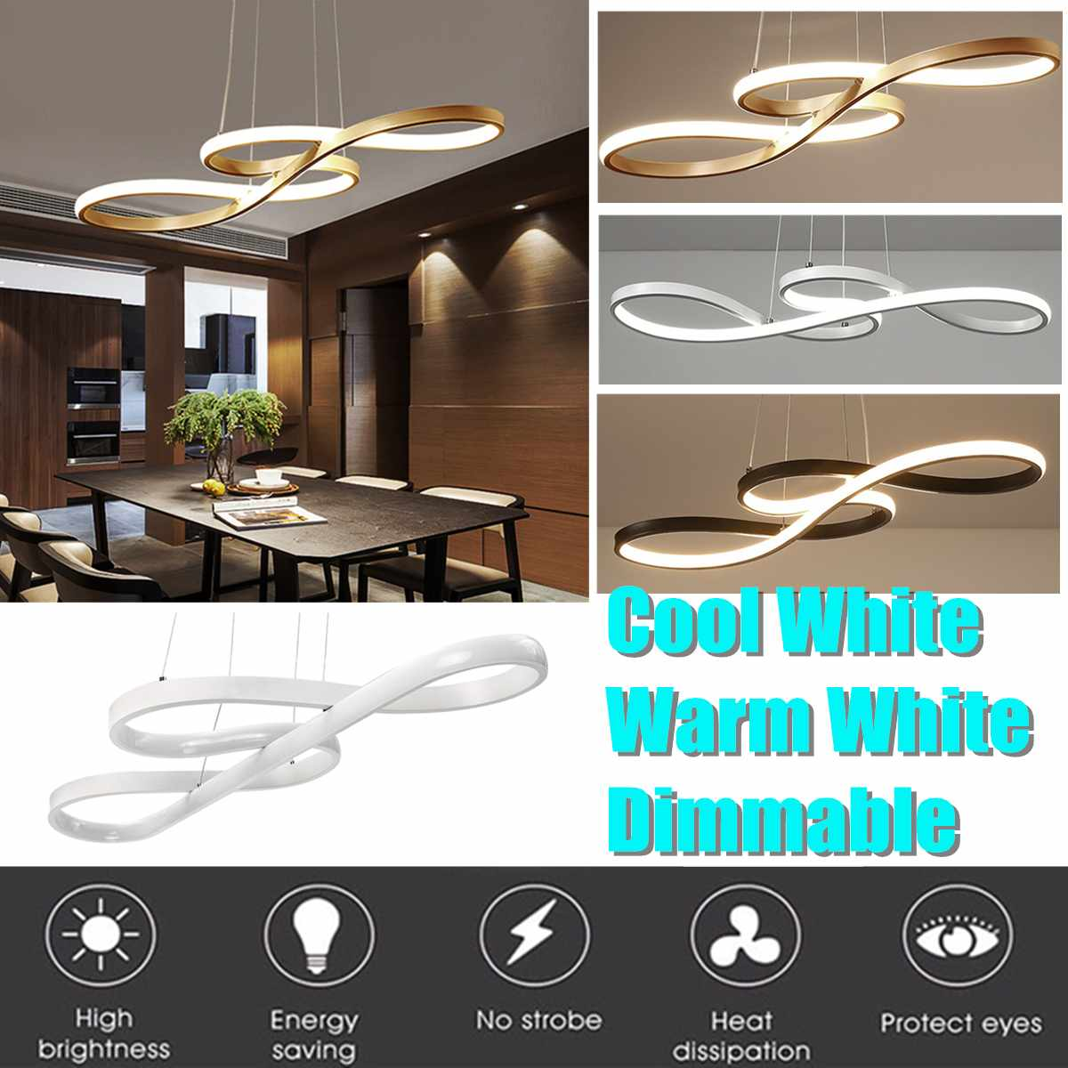 Nordic Modern Acrylic LED Ceiling Light Pendant Lamp Hallway Bedroom Dimmable Fixtures Living Dining Room Restaurant Decoration