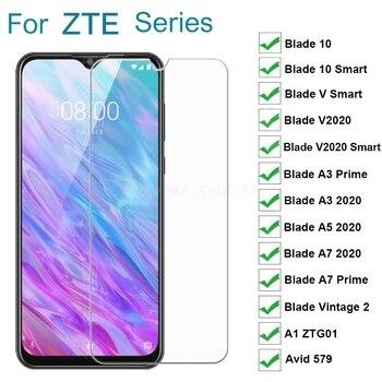 Перейти на Алиэкспресс и купить Закаленное стекло для ZTE Blade 10 Smart A5 A3 A7 Prime 2020 V2020 V Smart Vintage 2 защитное стекло на ZTE A1 ZTG01 Avid 579 пленка