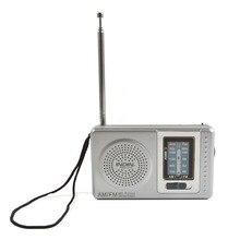 AM FM antena telescópica Radio de bolsillo Mini portátil multifunción construido en altavoz receptor Radios reproductor de música al aire libre