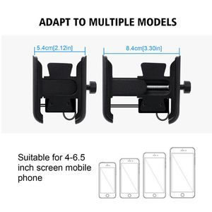 Image 5 - OOTDTY Metal Motorcycle Motorbike Mount Mobile Phone Holder Bracket With USB Charger Stand Car Phone Holder Mobile Support