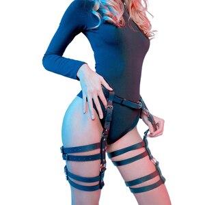 Подвязки с ремнем и мечом БДСМ 2020 новый сексуальный голографический Фетиш набор в готическом стиле бондажный свитер на теле женское БДСМ белье для женщин черное