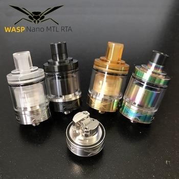 цена на Vape mini WASP NANO MTL RTA Tank atomizer 22mm 1.2 ml 2ml Tank Single Coil with Top Refill VS 24mm