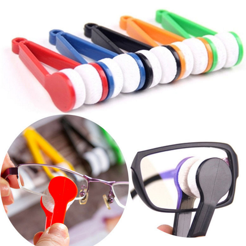 Random Glasses Dedicated Convenience Cleaner Super Fine Fiber Super Clean Power Portable Glasses Rub With Key Ring Cleaner
