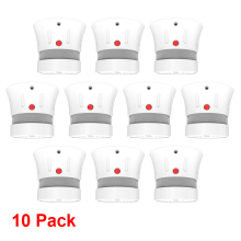 CPVan 10pcs/Lot Smoke Detector CE EN14604 Listed Quality Independent Alarm Detector 5 yr smoke alarm rookmelder fire protection
