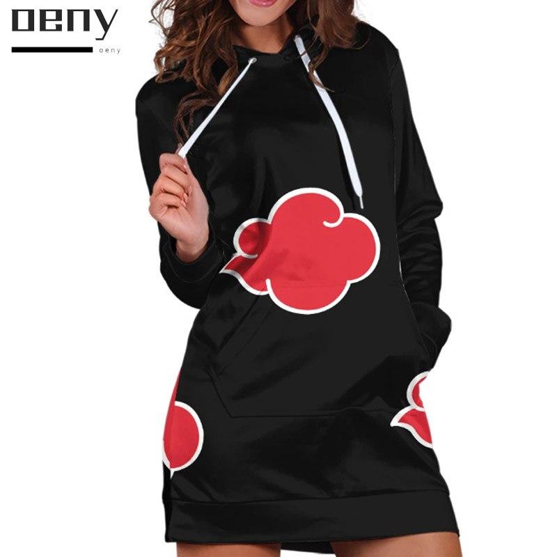 Купить аниме наруто толстовки платье для женщин модный пуловер свитшоты