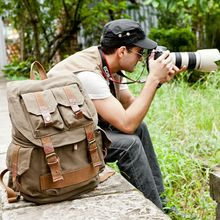 CamDress  Waterproof Camera backpack Batik Canvas camera bag National geographic Dslr kamera outdoor