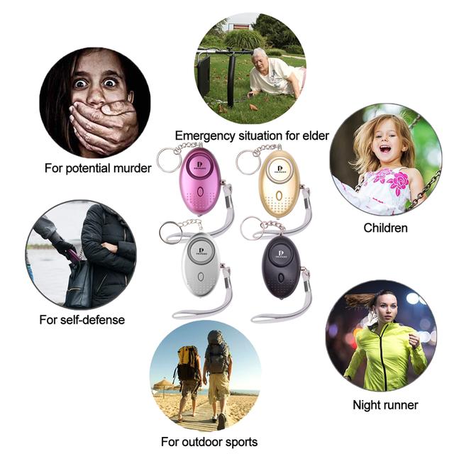 Pripaso Self Defense Alarm 130Db Security Protect Alert Personal Safety Scream Loud Keychain Emergency Alarm For Women Kids Girl