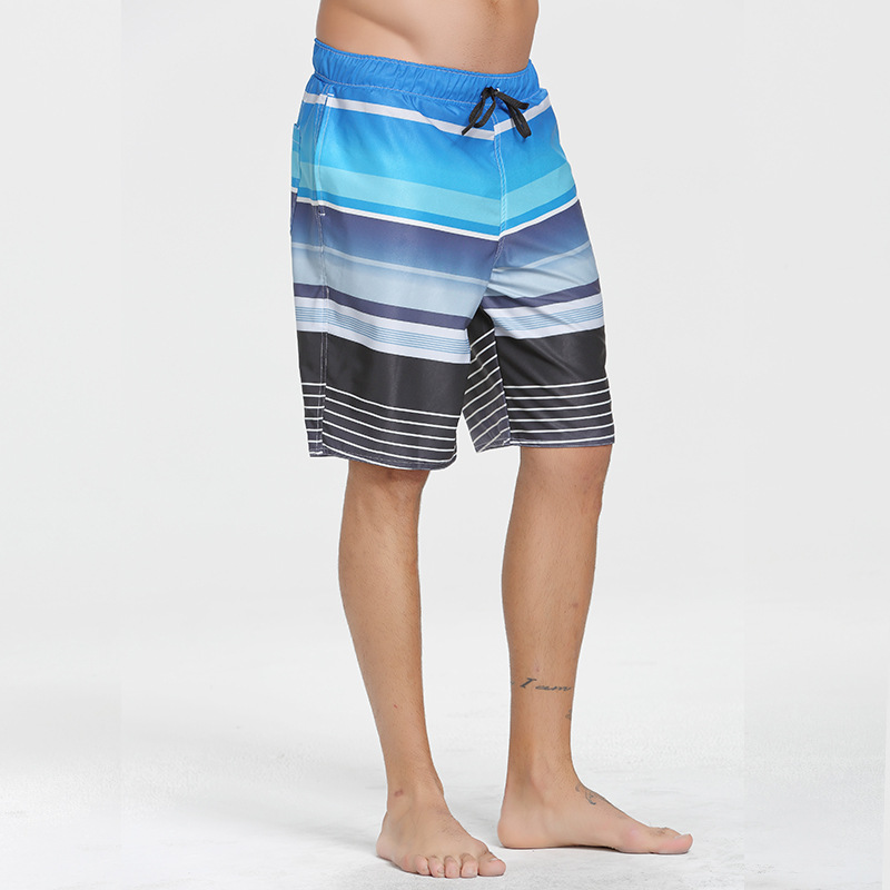 Beach Shorts Male Fifth Pants AussieBum Beach Large Size Men's Shorts Quick-Drying Loose-Fit Holiday Gradient Printed Trunks