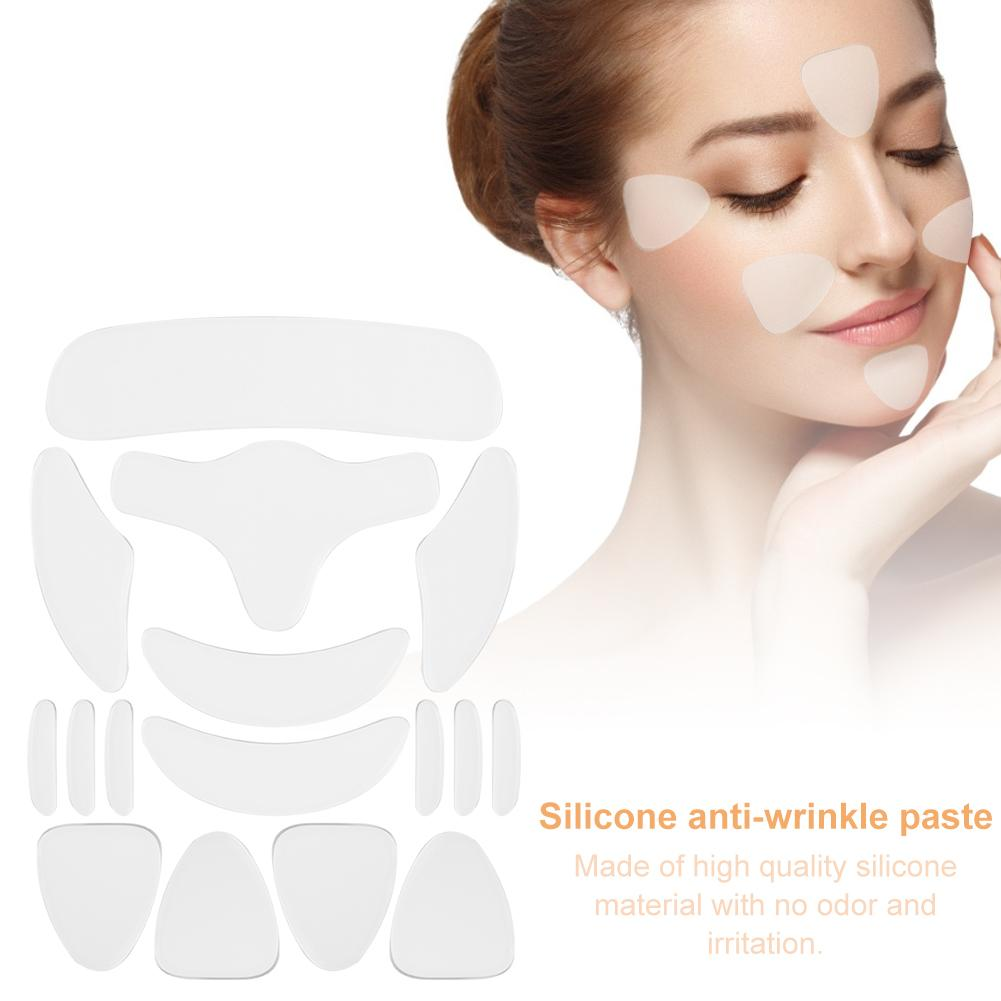 1/16PCS Reusable Silicone Anti-wrinkle Lip Pads Paste Cheek Chin Sticker Facial Eye Patches Wrinkle Removal Face Lifting Patches