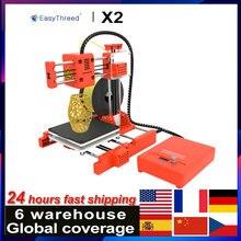 EasyThreed X2 Mini Desktop Kinder 3D Drucker 100x100x100mm Stumm Druck mit Lcd-bildschirm Tf-karte PLA Probe Filament für Kinder