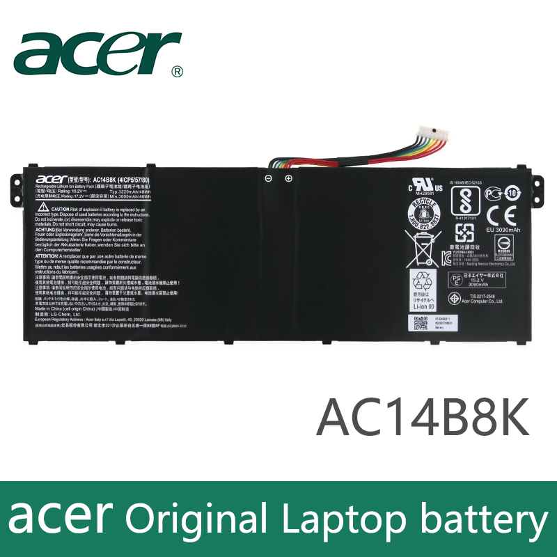 Original Laptop Battery For Acer Aspire E3-111 E3-112 CB3-111 CB5-311 ES1-511 ES1-512 E5-771G V3-111 V3-371 ES1-711 48WH AC14B8K