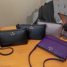 Women Bag Messenger-Bags Cross-Body-Bag Navy-Blue Purple Zipper Hard