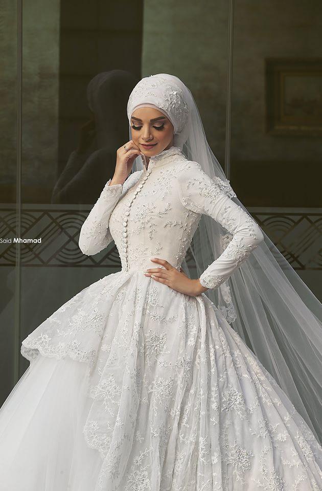Robe De Mariage Long Sleeve Ball Bridal Gown 2018 High Neck Lace Vestido De Noiva Robe De Mariee Mother Of The Bride Dresses
