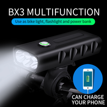 Bike Light Front usb Rechargeable T6 L2 5200mAH Waterproof LED Bicycle Light Power Bank Battery 18650 Cycling Bike Accessories usb rechargeable bike head light cree xml t6 led waterproof front light night cycling safety flashing light for bike accessories