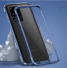 Dla Samsung s20 przypadku metalowej ramie Luminous odporny na wstrząsy aluminium zderzak ochrony pokrywa dla Samsung s20 ultra s20 + s20 plus przypadku